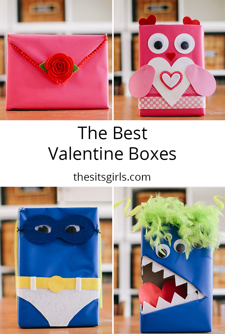 Make a Valentine mailbox out of cereal boxes. Love all four of these ideas for Valentine card boxes.
