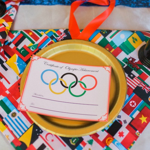 These are the cutest certificates for any Olympics Party!