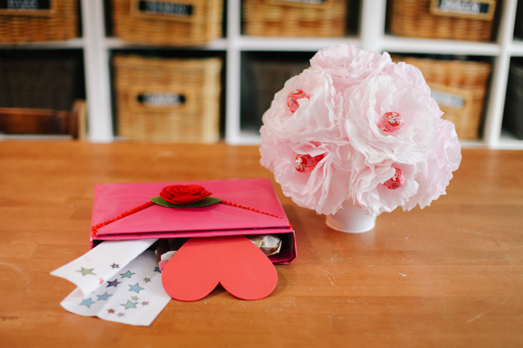 Coffee filters and cereal boxes transform into beautiful Valentine's Day DIYs!