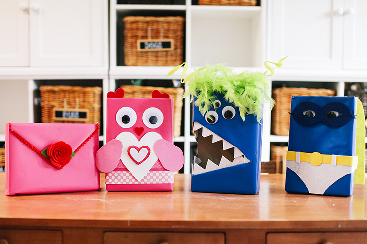 the best part about this project is that you can customize your valentine mailboxes any way you want you could make a pink monster or a pink superhero - Valentine Mailboxes