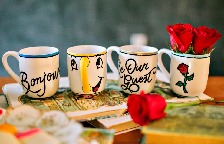 DIY mugs inspired by Beauty and the Beast