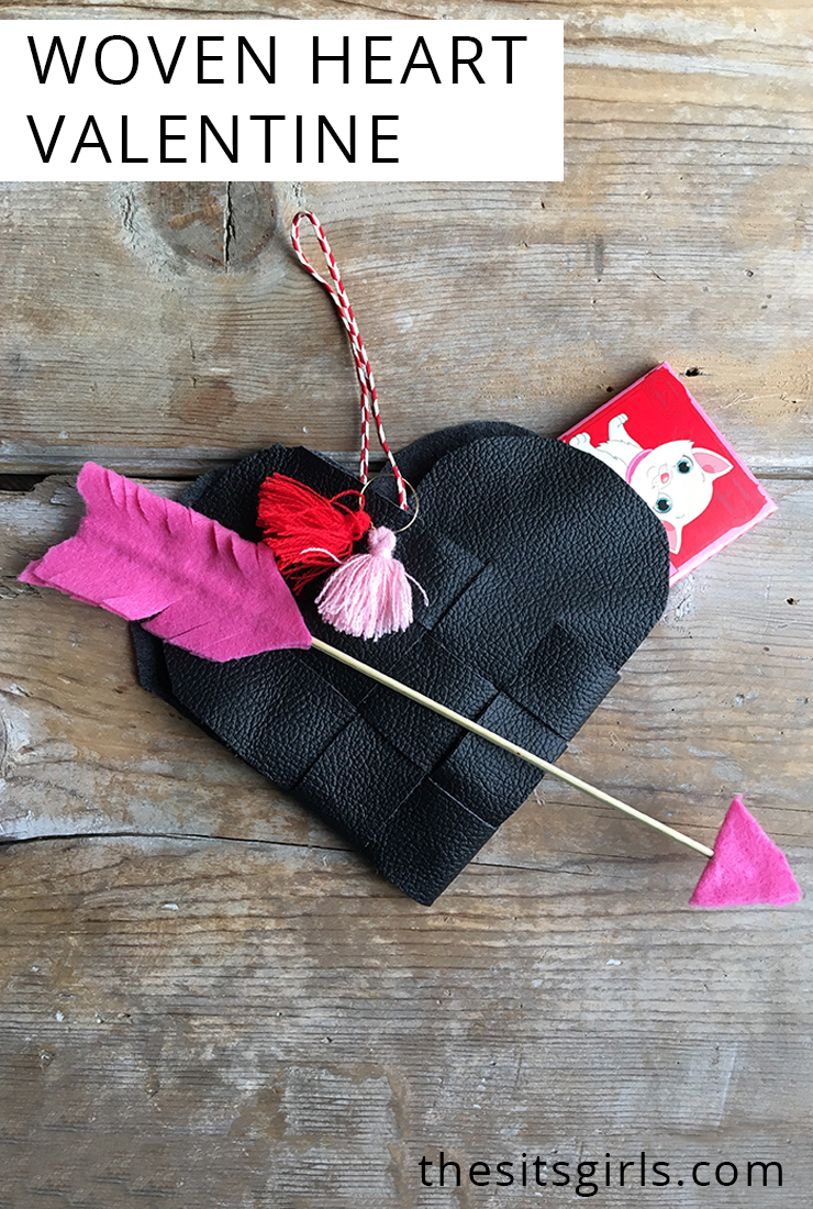 Try making an adorable Danish Woven Heart for Valentine's Day! Free template included.