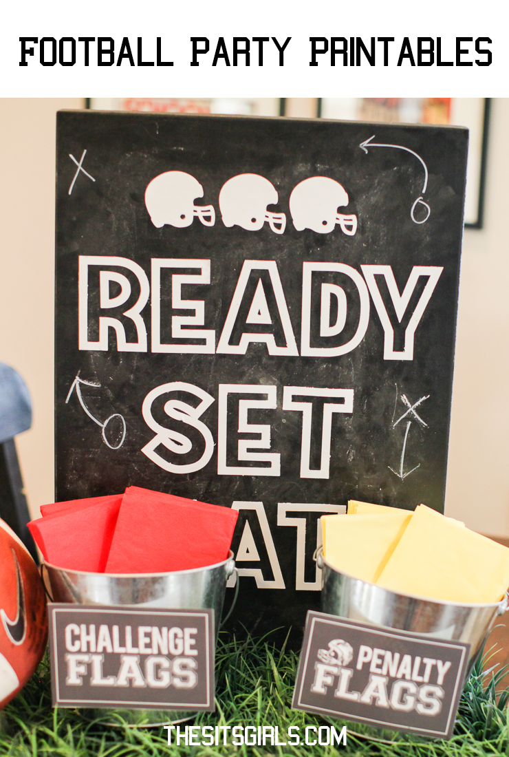 Cute printables for your game day party!