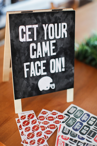 Stickers and tattoos are the perfect flair for your football party! Get your game face on!