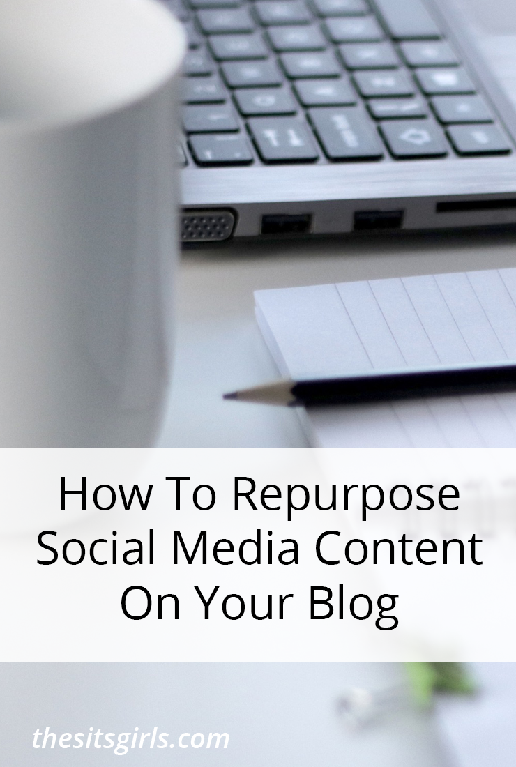 Five tips to help you repurpose social media content on your blog and your other social media channels. This is a great time saver.