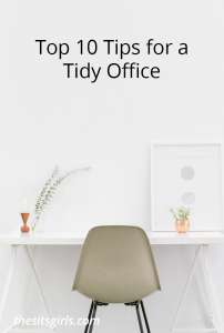 A tidy office helps you have a better, more organized work day. These ten tips will help. | Home Office | Organization
