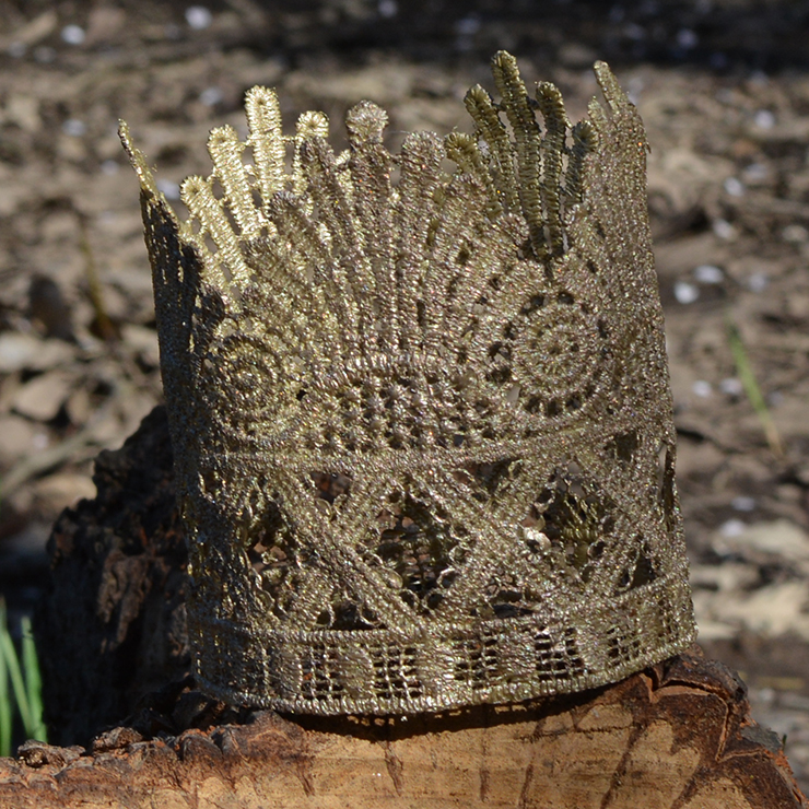 Use craft paint to make this darling crown.