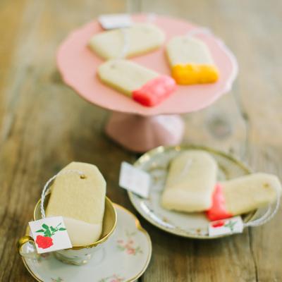 Shortbread Tea Bag Cookies