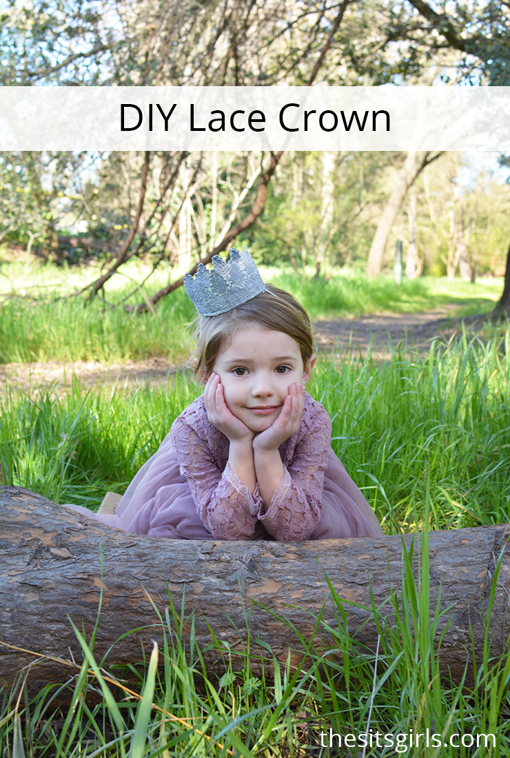 Lace Crown DIY | You can use a lace crown for newborn photos, princess parties, or just to accessorize an outfit! These are super easy to make yourself.