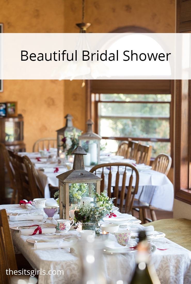 Beautiful bridal shower ideas for food, decor, and games. Plus a packet of free bridal shower printables to use for your party.