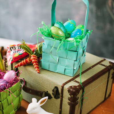 How To Make An Easter Basket With Newspaper