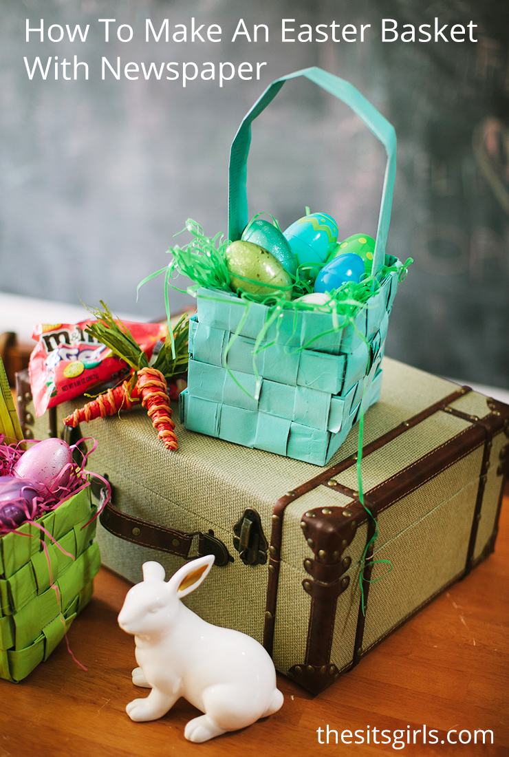 How To Make A Woven Easter Basket : Newspaper basket how to make a easter