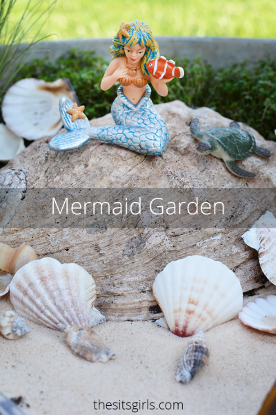 Make your own mermaid garden! This is a fun activity to do with your kids. Choose plants that are easy to maintain, and watch their love of gardening grow.