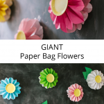 Giant Paper Bag Flowers
