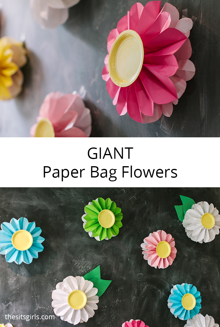 Perfect for party decorations any time of the year - giant paper bag flowers. Mix and match colors to make a stunning feature wall for your next party. Easy step by step instructions and a video tutorial will help you create the perfect flowers.