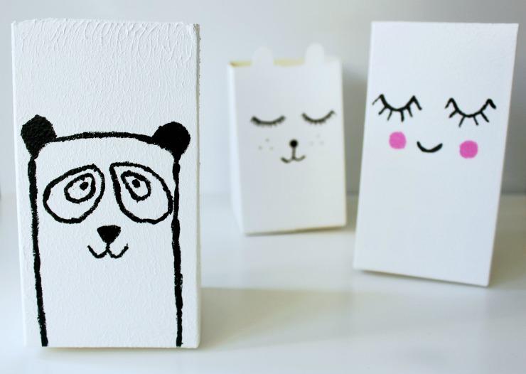 Paint cute faces on your milk carton planters.