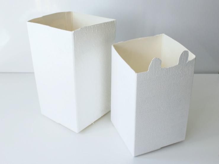 Paint your milk cartons whitel