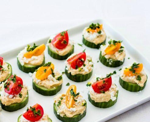 cucumber hummus bites