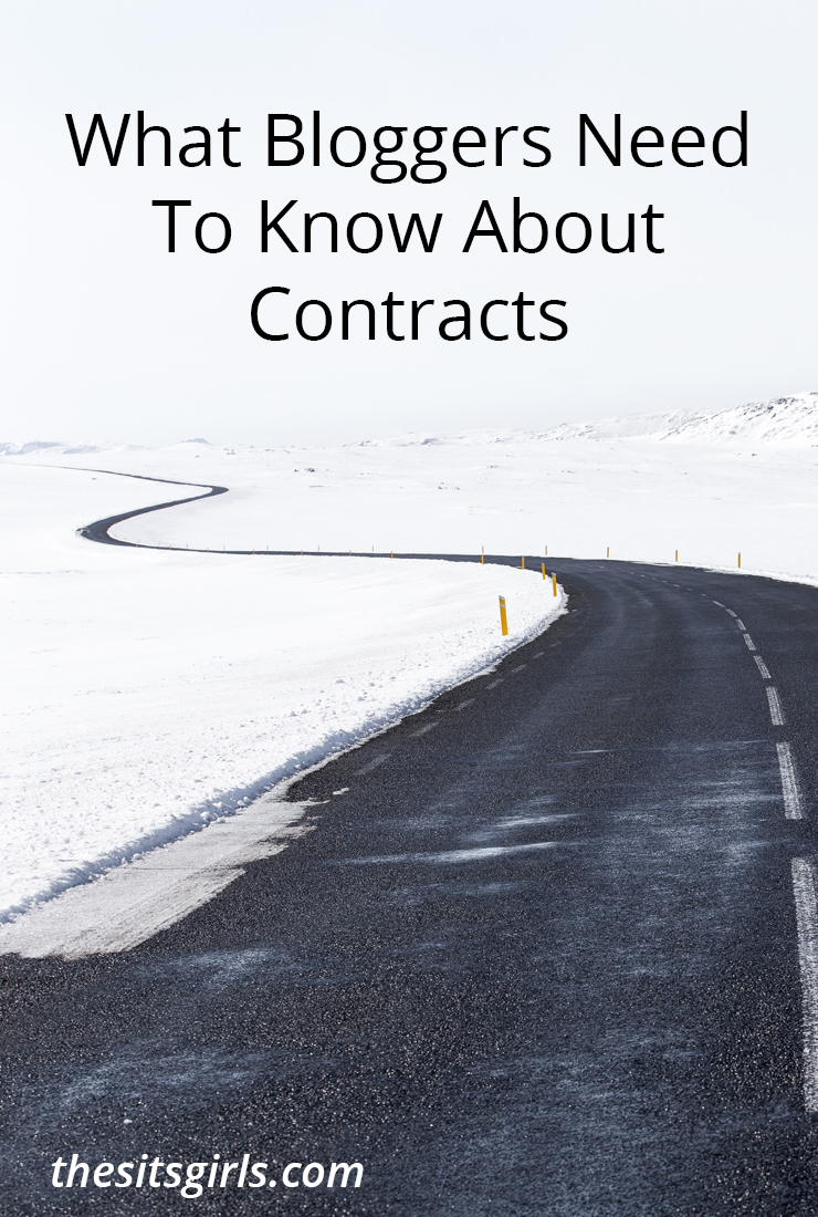 If you are making money blogging, you are signing contracts. Use this checklist to make sure you are protected and understand the contract terms.