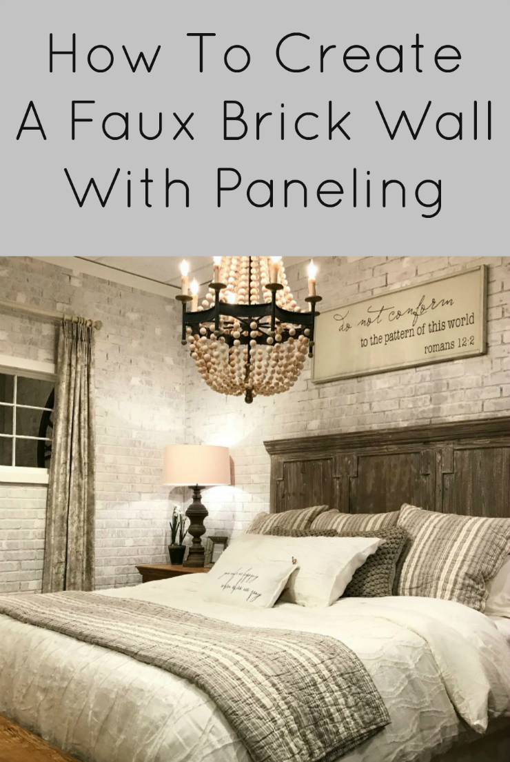How To Create A Faux Brick Wall With Paneling Exposed