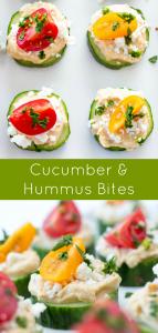 Cucumber and Hummus Bites Recipe