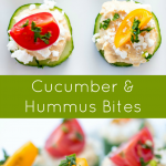 Cucumber and Hummus Bites