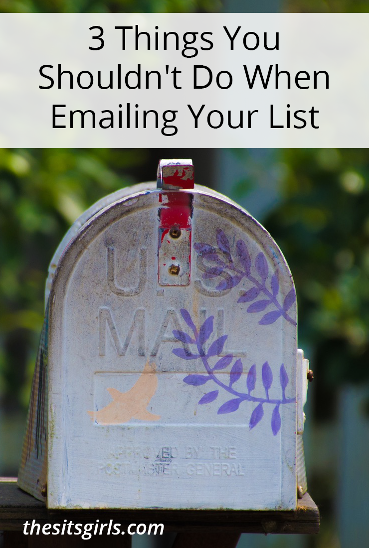 Make your email newsletters better by avoiding these three things!