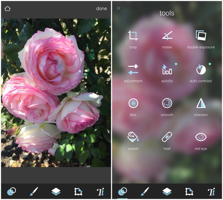 Pixlr photo editing tools