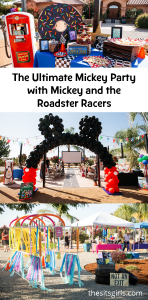 Plan the perfect Mickey party with Mickey and the Roadster Racers! Includes Disney character themed food, decor ideas, and Disney party activities.