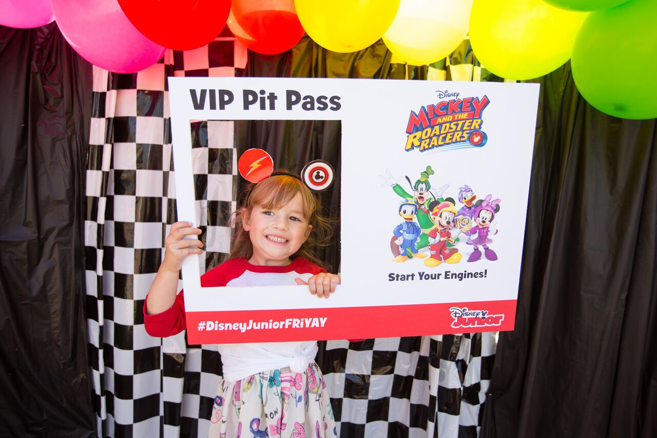 Grab this cute VIP pit Pass for a cute photo op!