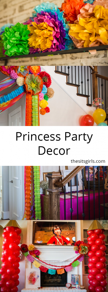 Princess Party Decor | Great princess party ideas for an Elena party or a Sofia the First party.