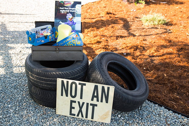 Use old tires for some cool decor!