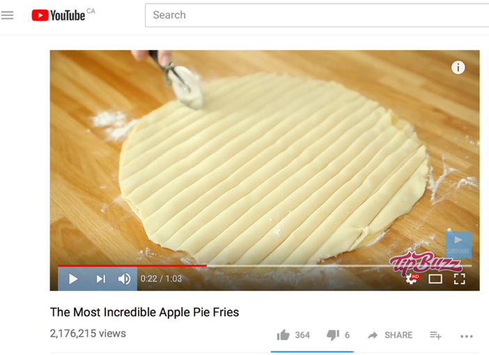 Apple Pie Fries video viral on YouTube