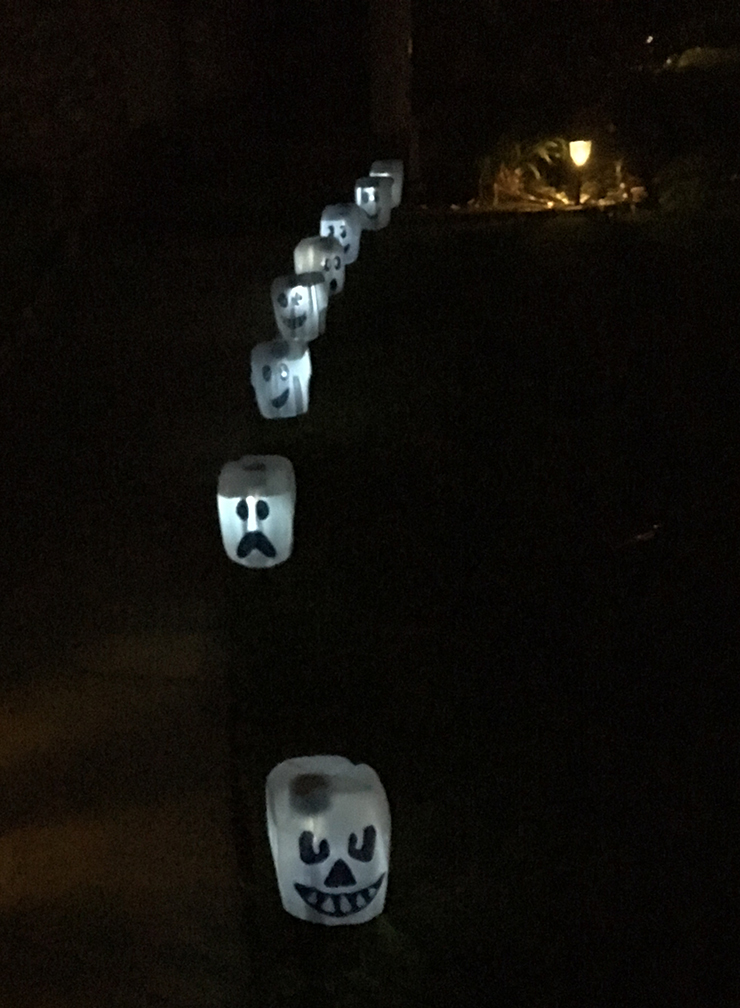 Line your walk way with these ghosts.