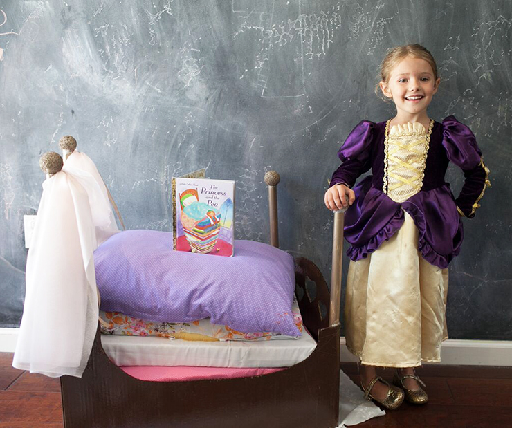 Princess And The Pea Story | How to make a homemade Princess and the Pea costume  sc 1 st  The SITS Girls & Princess And The Pea Costume Homemade | Princess And The Pea Bed