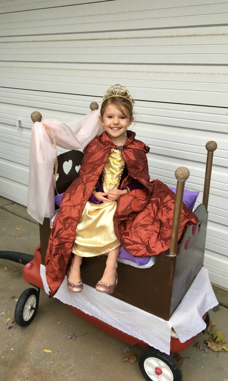 This princess and the pea costume is SO CUTE!