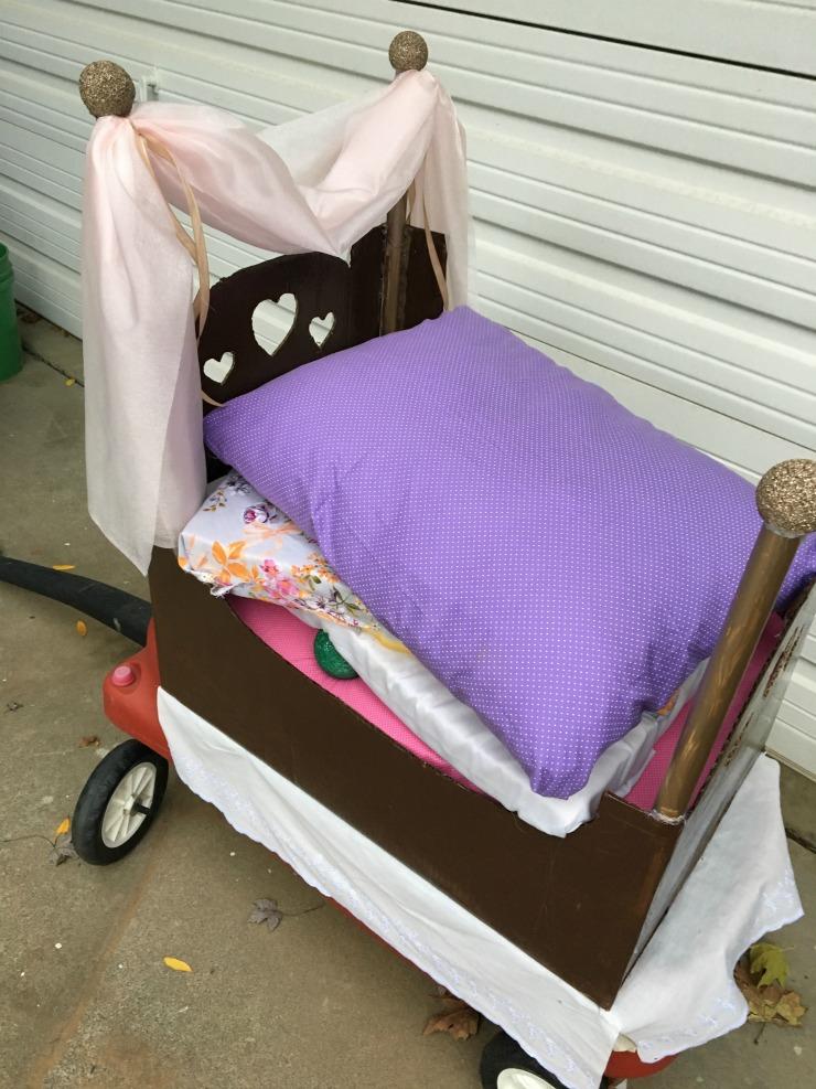 Princess and the Pea Bed for homemade costume.
