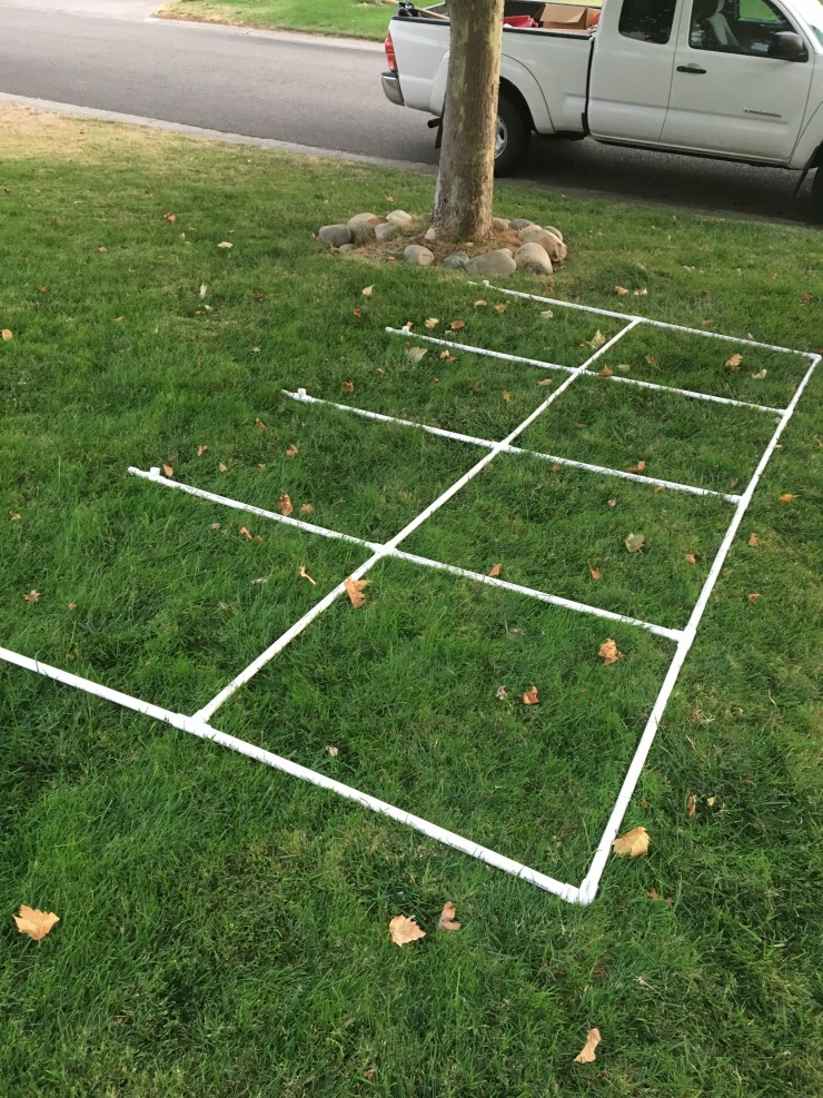 Use your PVC Pipes to build a grid for the body of your PVC Pipe Car Wash