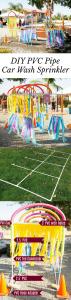 Great idea for summer fun! DIY PVC Pipe Car Wash Sprinkler