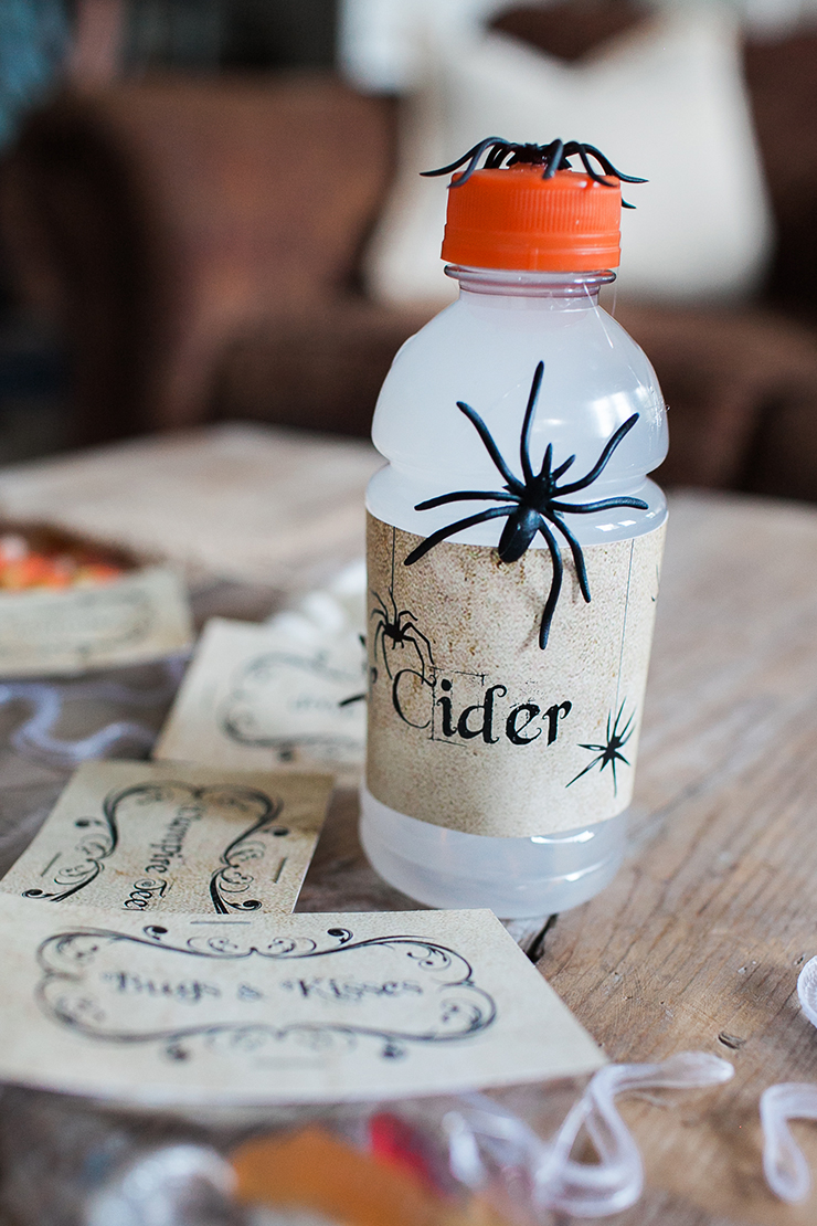 Use white Gatorade as Spider Cider.