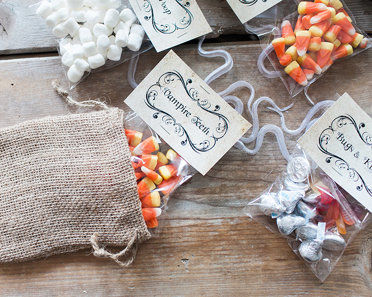 Use Vampire Teeth as Candy Corn for some cute Halloween treats.