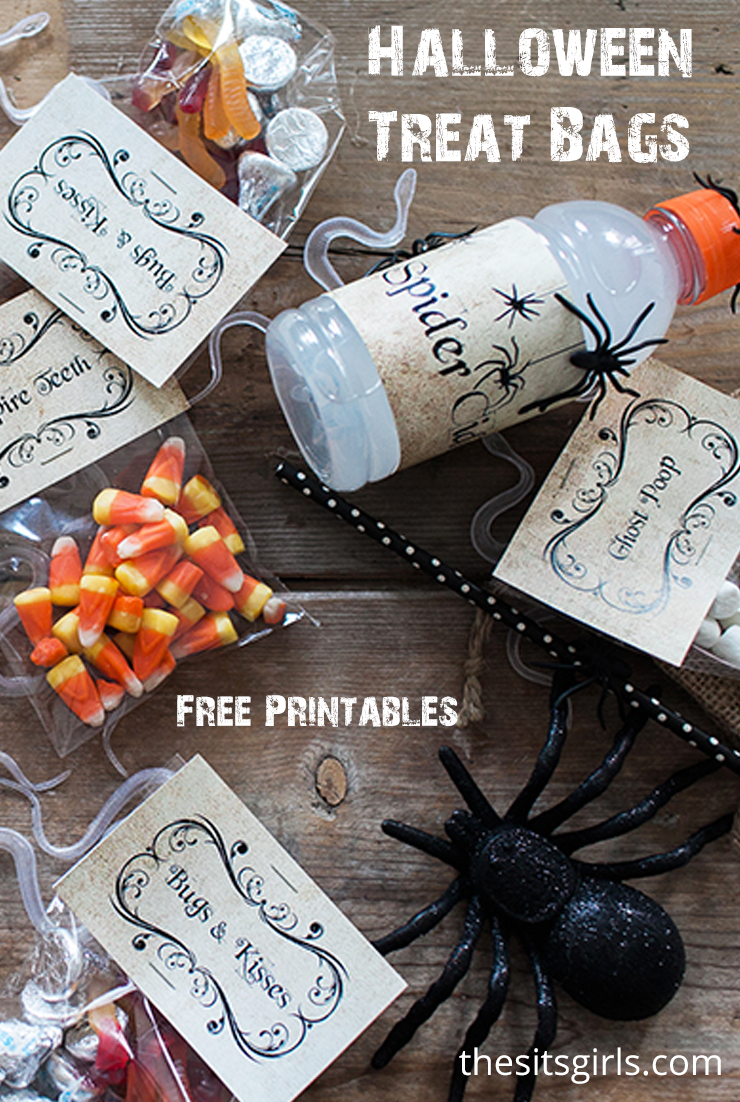 These cute printables will help you make the perfect Halloween treat bags. Great for Halloween parties, class parties, and lunch box treats.