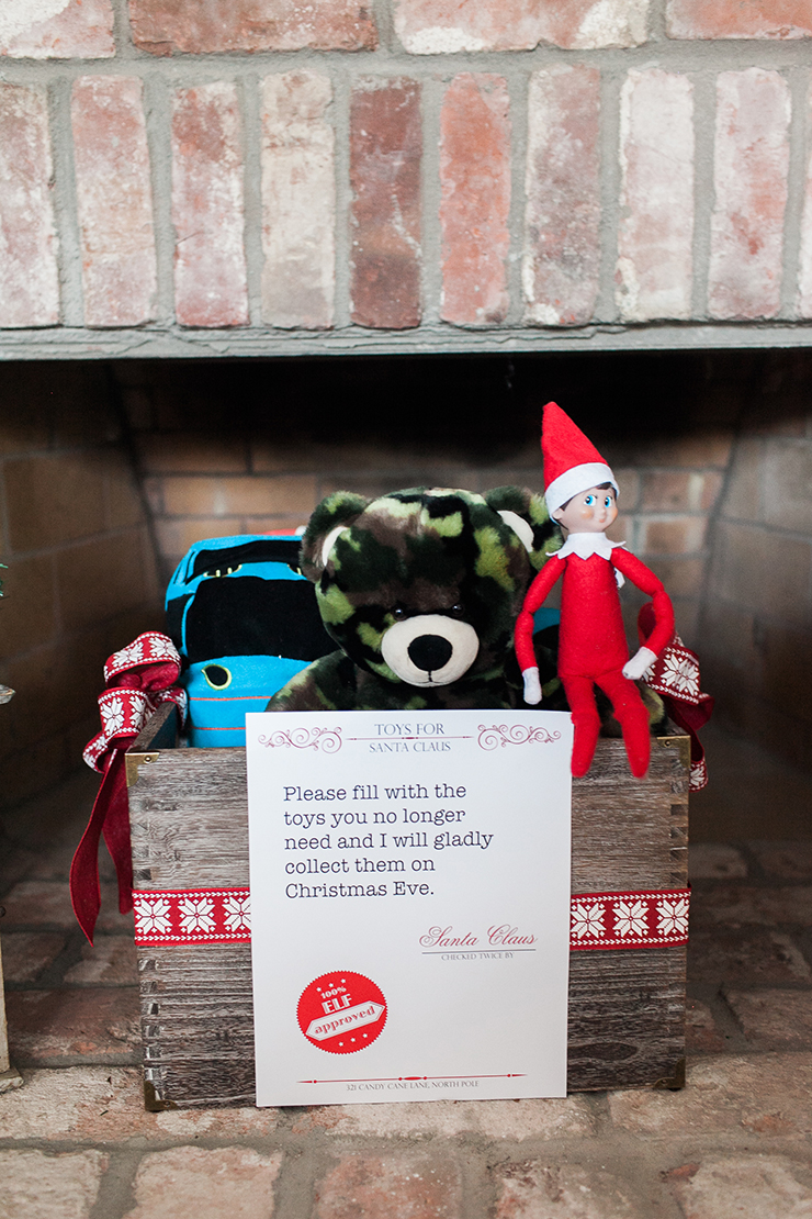 Get ready for Santa with the Santa Toy Donation box!