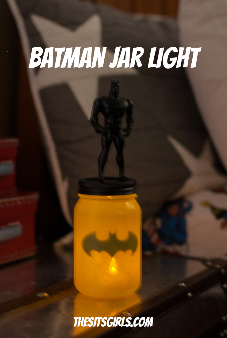 Batman Jar Light | Mason Jar Light | Batman Nightlight