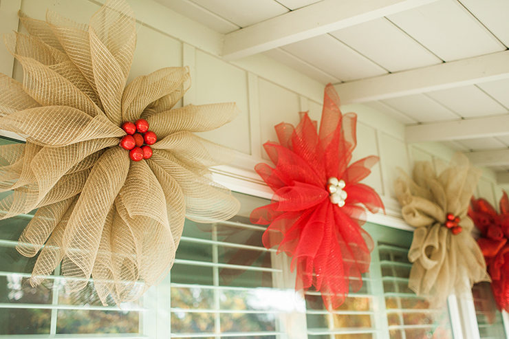Make a huge WOW display on your porch with these cute mesh flowers!