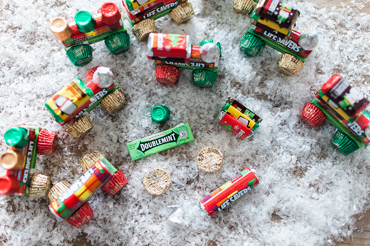 Use some simple candy to make a cute train! These make perfect gifts!