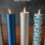 DIY Flameless Menorah Candles