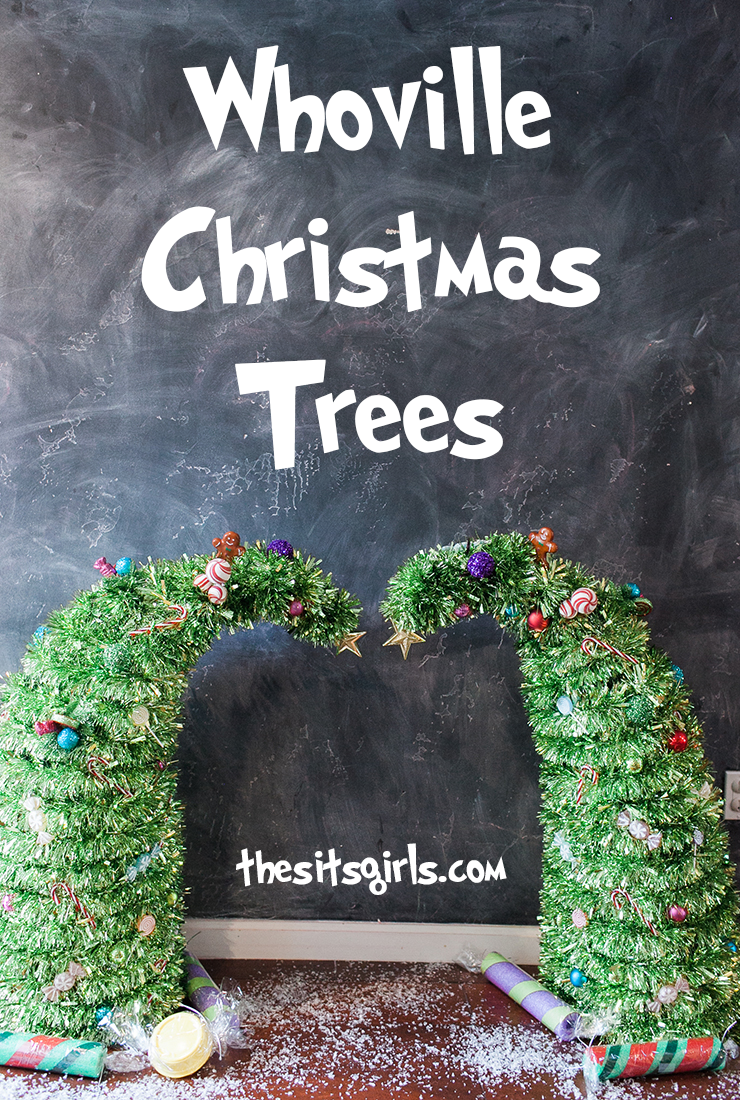 Make your own Whoville Christmas trees right out of How The Grinch Stole Christmas. These whimsical trees are great for decor or Christmas photo shoots.