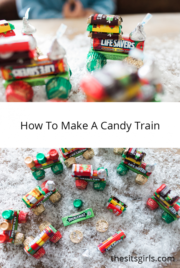 Use some simple candies to make these holiday trains!