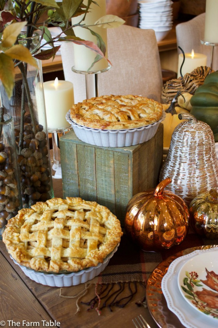 Apple pies on fall table